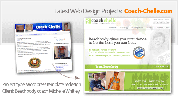 beachbody coach michelle whitley wordpress site redesign project