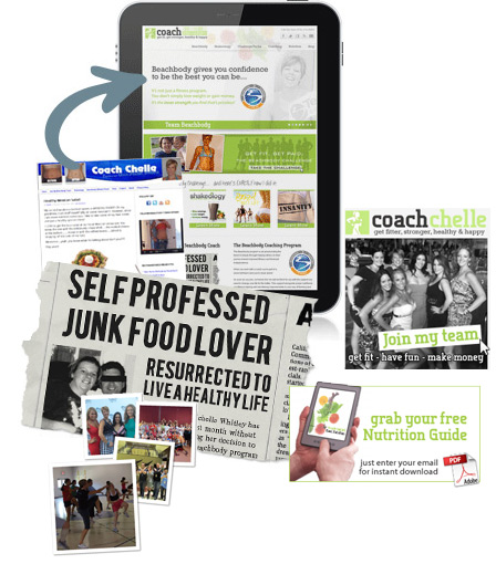 beachbody coach web design